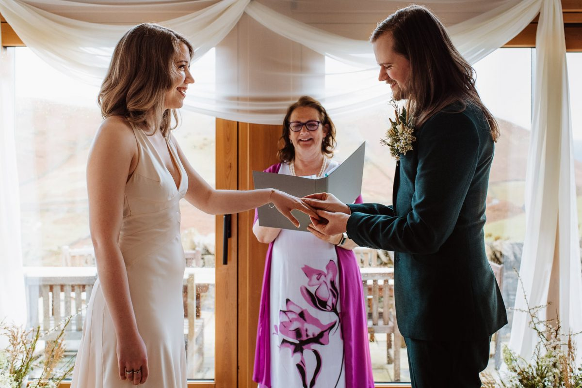 Elopement ceremony in Lake District Hause Hall